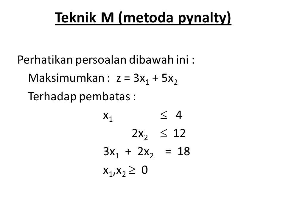 Teknik M (metoda pynalty)