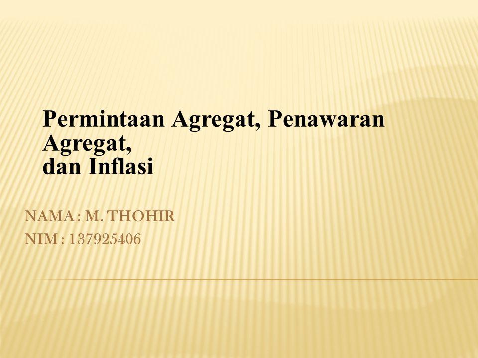 Permintaan Agregat, Penawaran Agregat, dan Inflasi