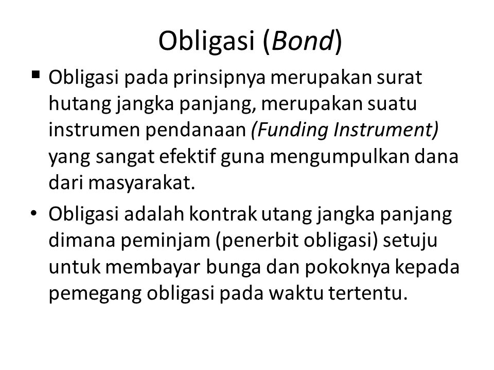 Obligasi (Bond)