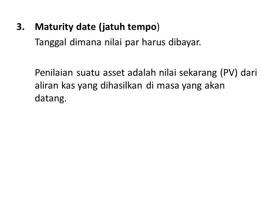 Maturity date (jatuh tempo)