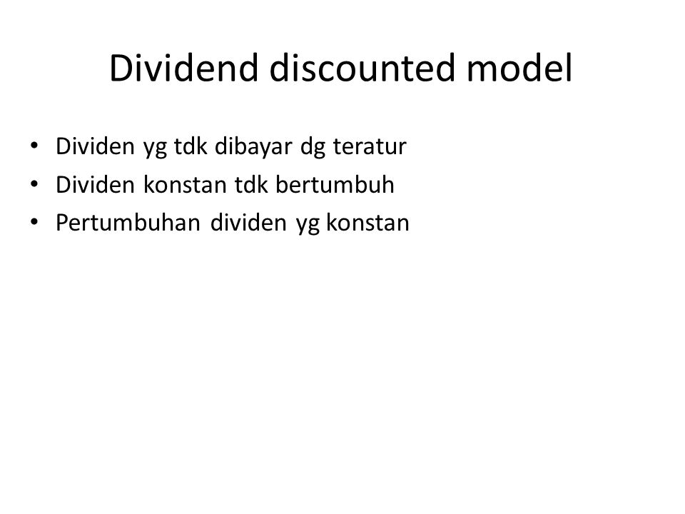 Dividend discounted model