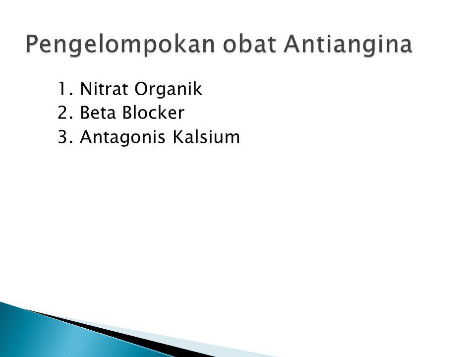Pengelompokan obat Antiangina