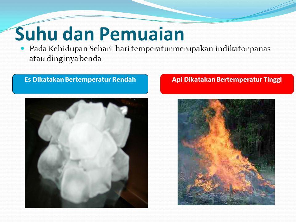 Es Dikatakan Bertemperatur Rendah Api Dikatakan Bertemperatur Tinggi