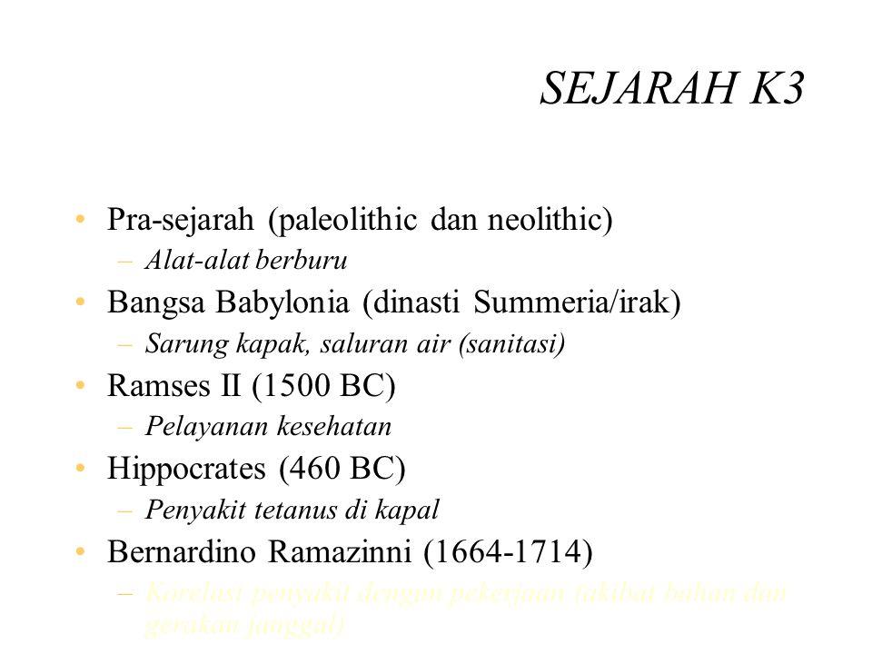 SEJARAH K3 Pra-sejarah (paleolithic dan neolithic)