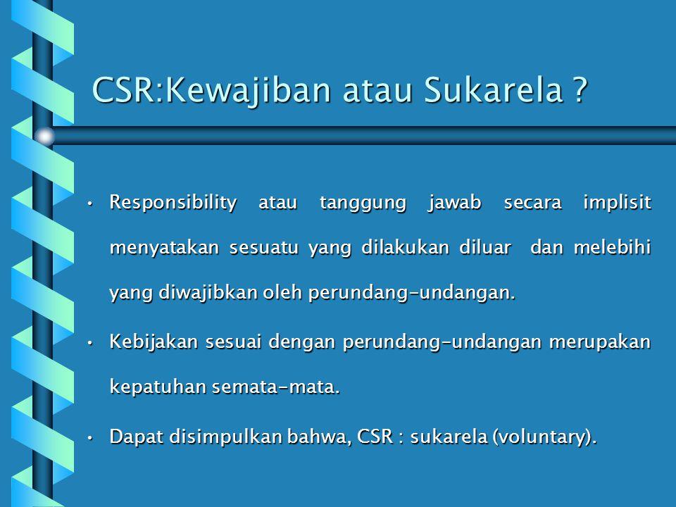 CSR:Kewajiban atau Sukarela
