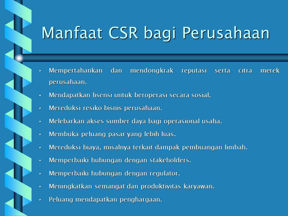 Manfaat CSR bagi Perusahaan