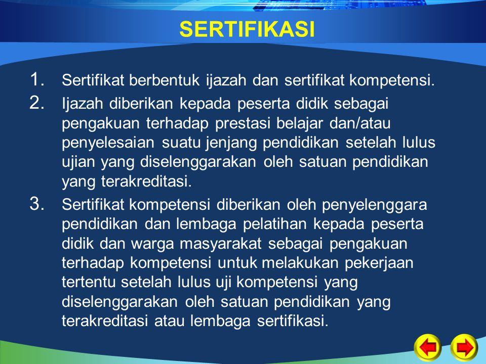 Permendiknas Nomor 6/2007 pasal 1 ayat (1)
