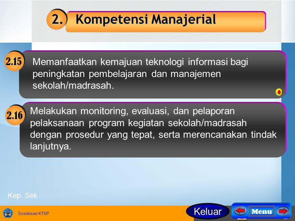 2. Kompetensi Manajerial