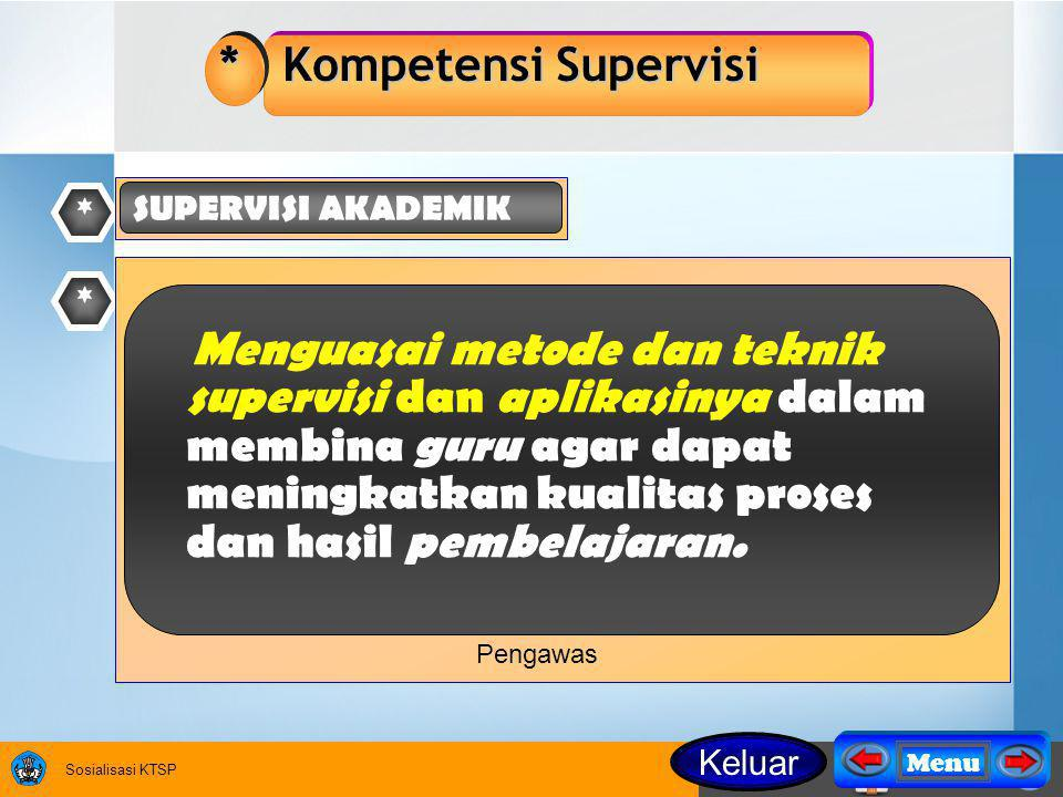 * Kompetensi Supervisi