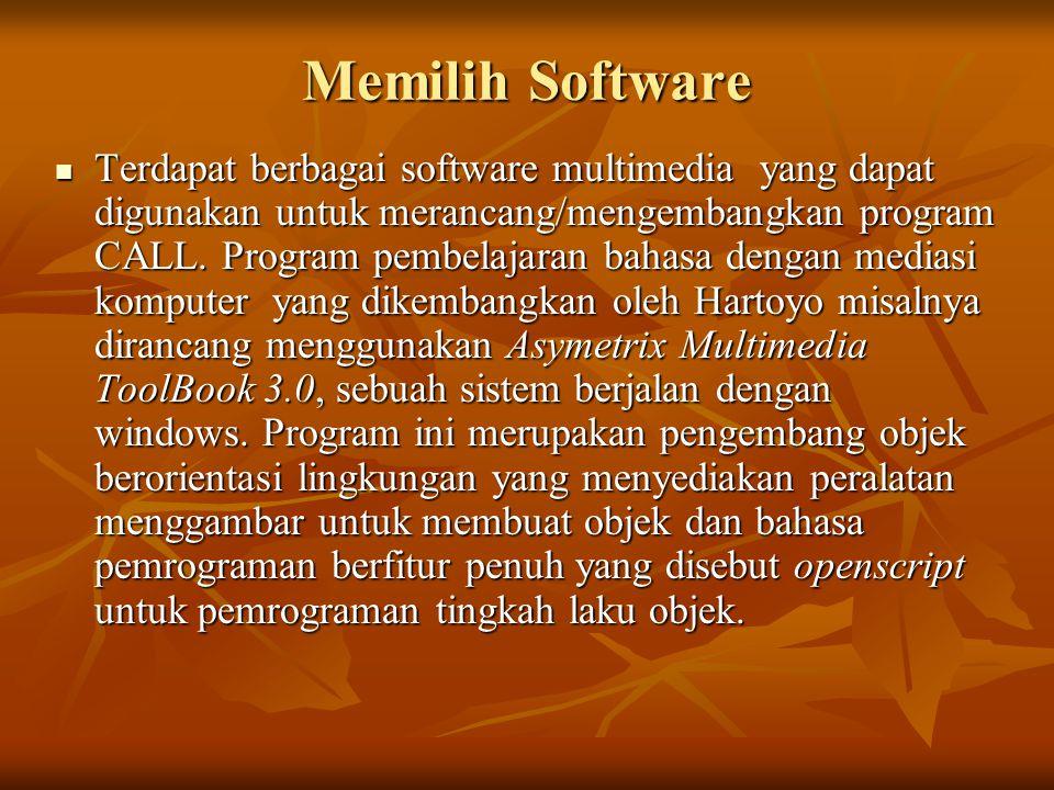 Memilih Software