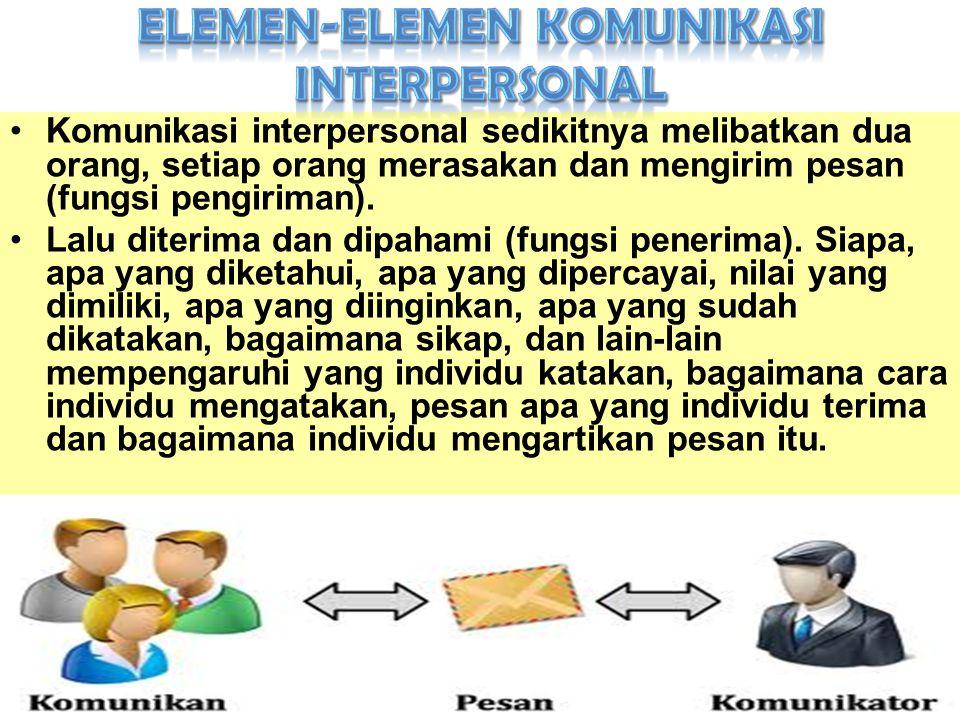 Elemen-elemen Komunikasi Interpersonal