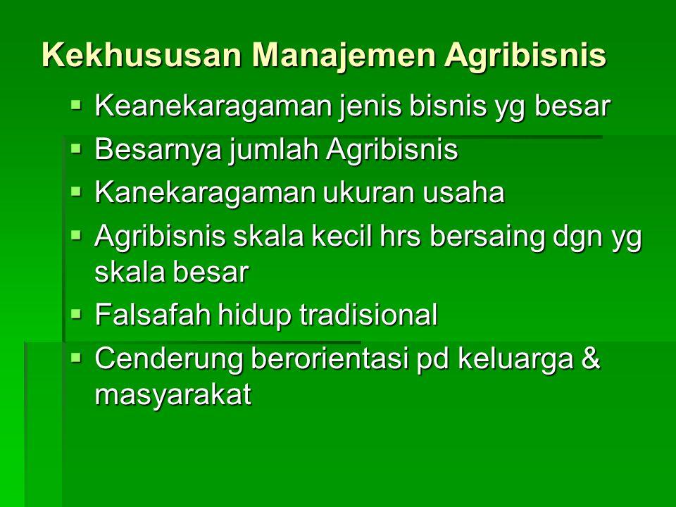 Kekhususan Manajemen Agribisnis