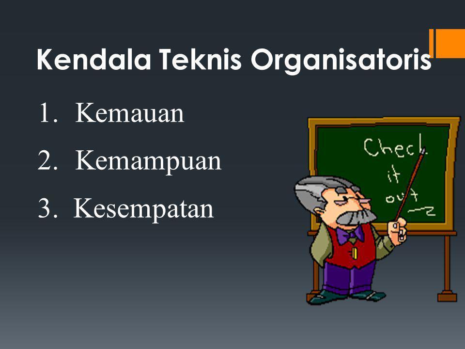Kendala Teknis Organisatoris