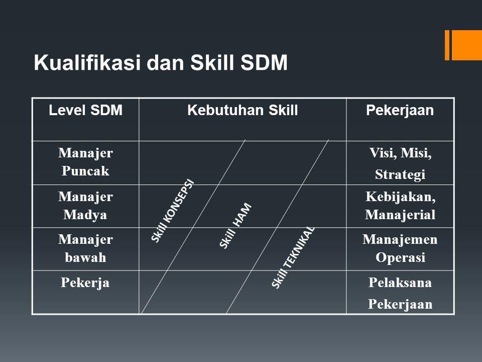 Kualifikasi dan Skill SDM