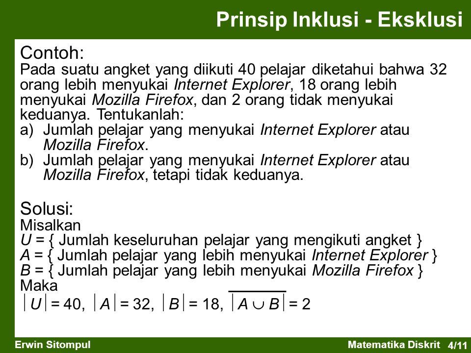 Prinsip Inklusi - Eksklusi