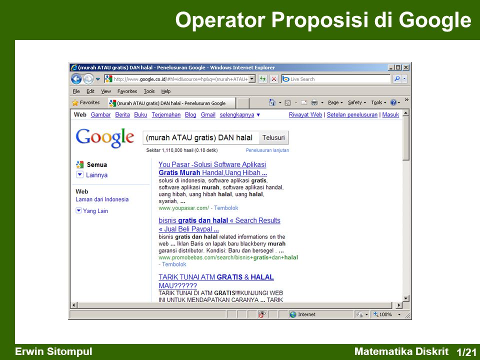 Operator Proposisi di Google