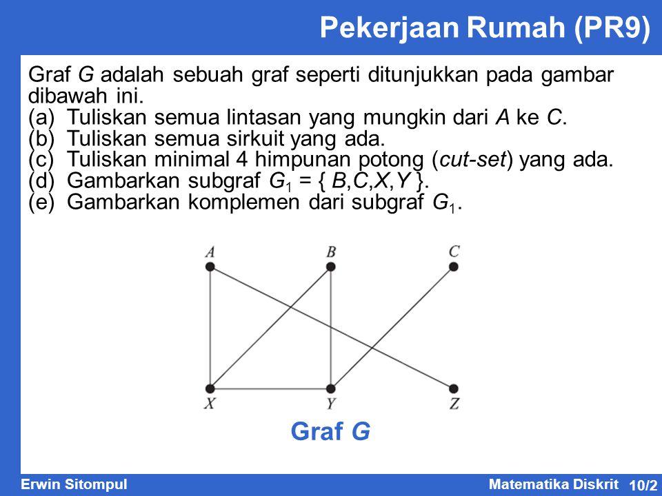 Pekerjaan Rumah (PR9) Graf G