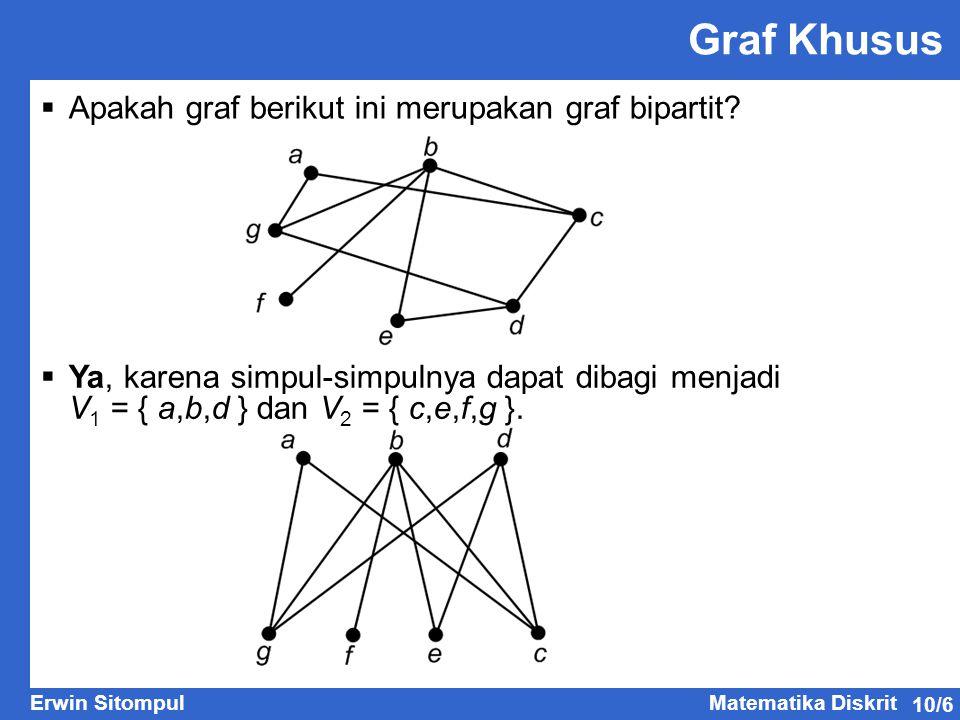 Graf Khusus Apakah graf berikut ini merupakan graf bipartit