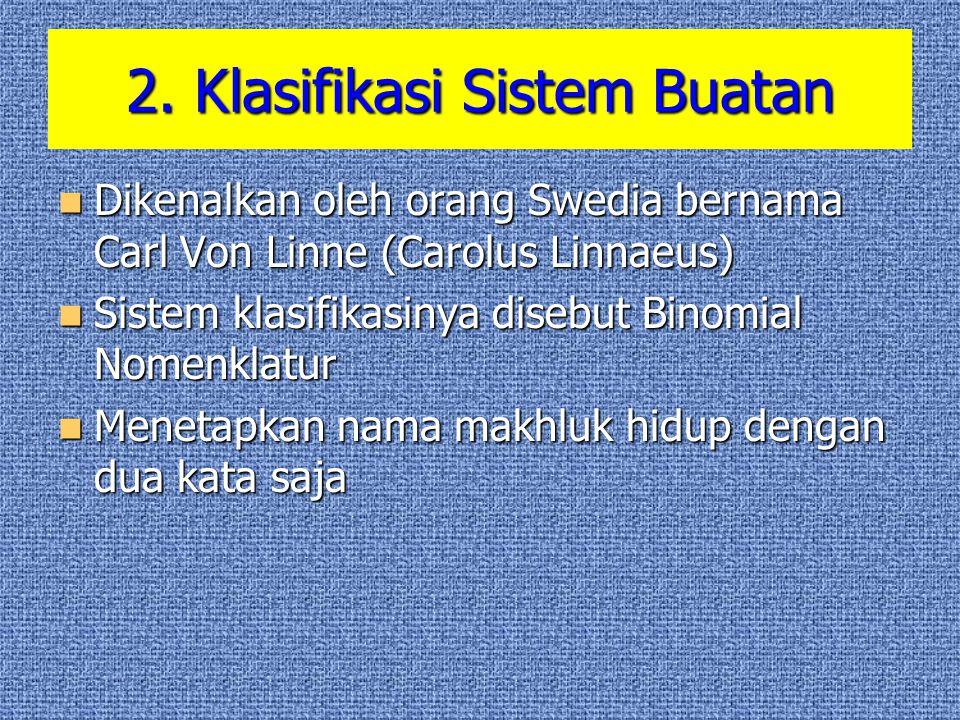 2. Klasifikasi Sistem Buatan