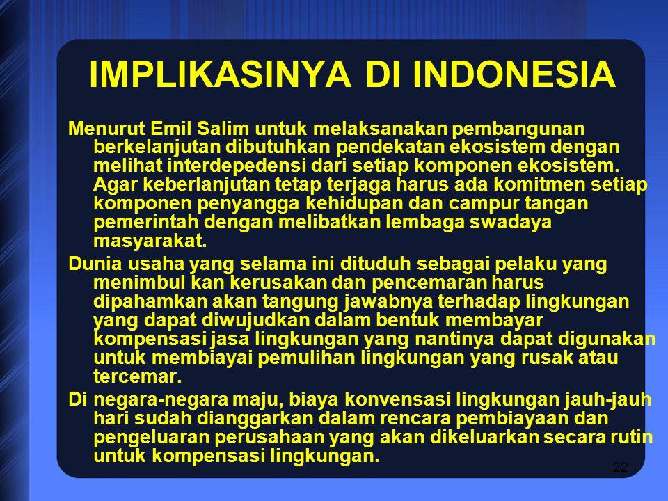 IMPLIKASINYA DI INDONESIA