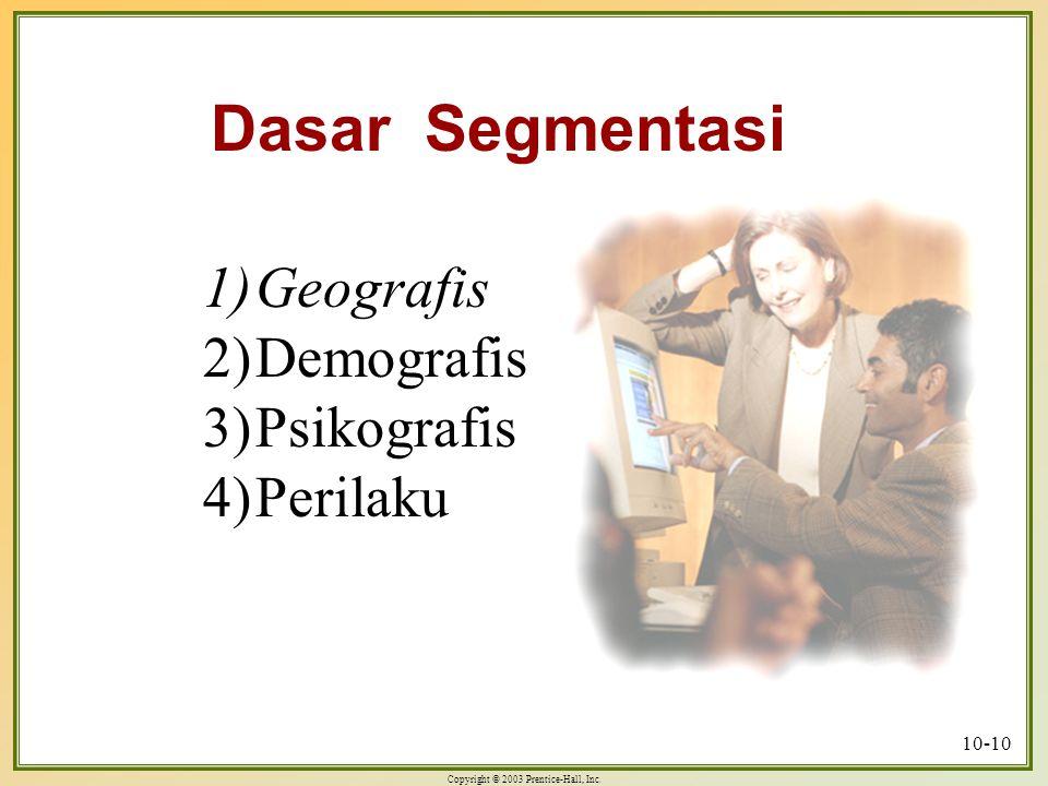 Dasar Segmentasi Geografis Demografis Psikografis Perilaku