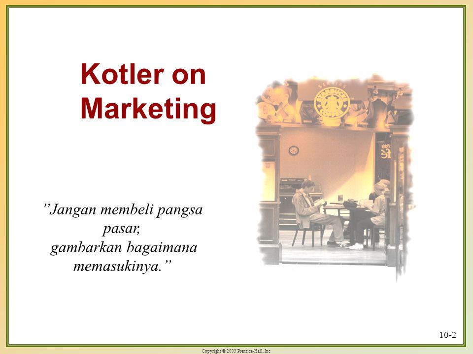 Kotler on Marketing Jangan membeli pangsa pasar,