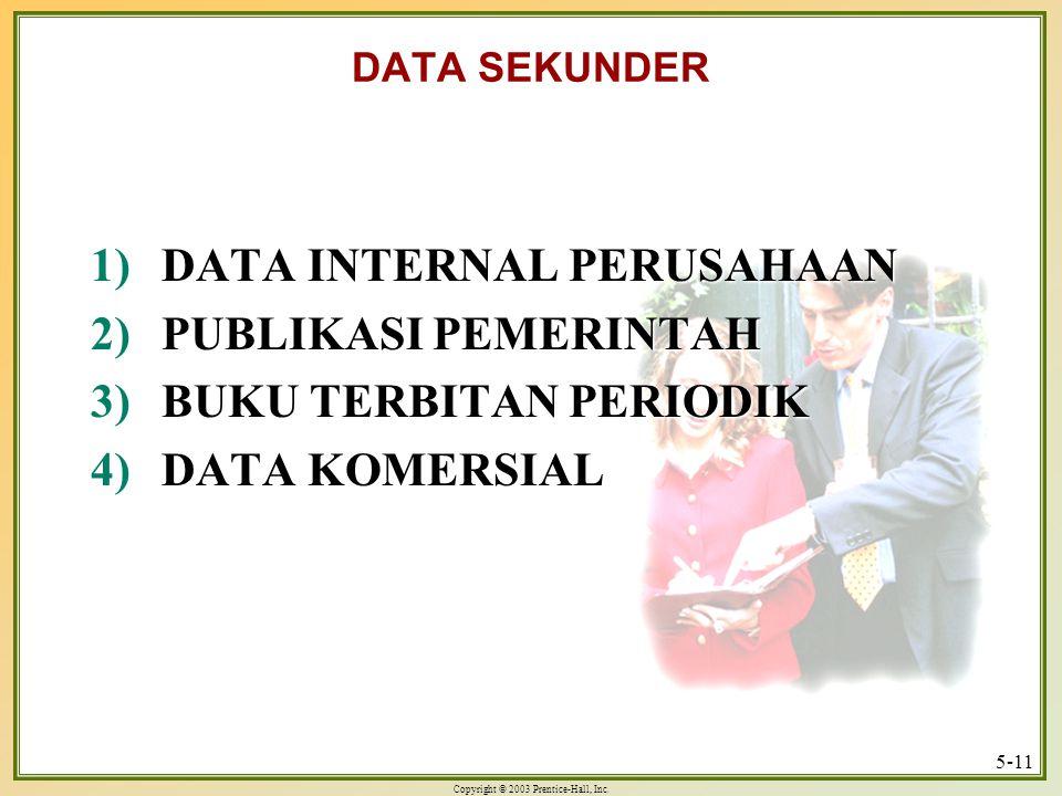 DATA INTERNAL PERUSAHAAN PUBLIKASI PEMERINTAH BUKU TERBITAN PERIODIK