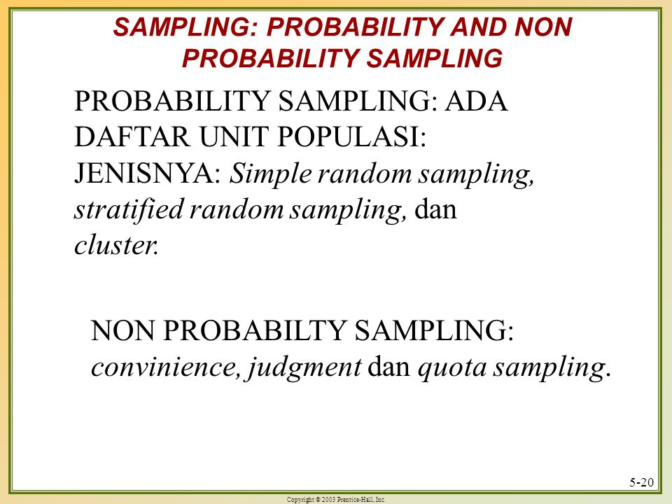 SAMPLING: PROBABILITY AND NON PROBABILITY SAMPLING