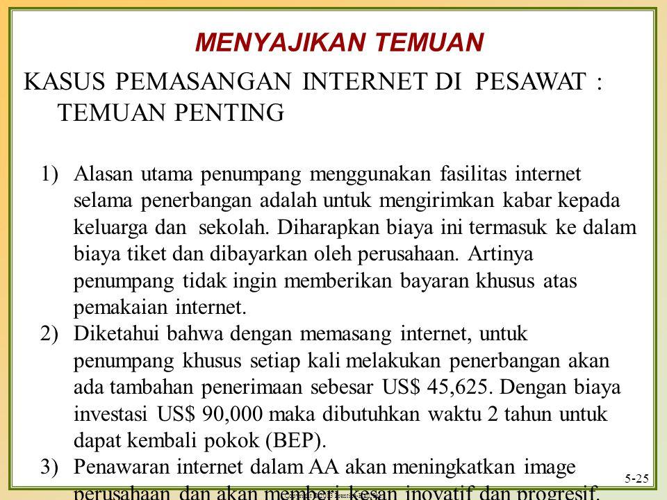 KASUS PEMASANGAN INTERNET DI PESAWAT : TEMUAN PENTING