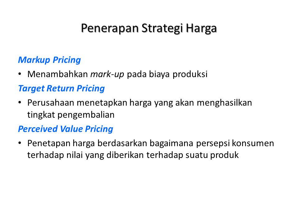 Penerapan Strategi Harga