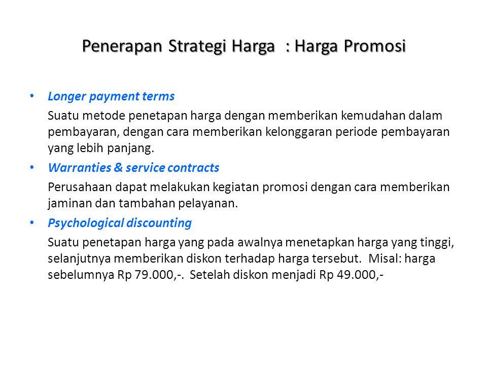 Penerapan Strategi Harga : Harga Promosi