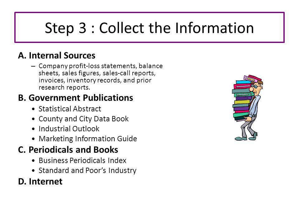 Step 3 : Collect the Information