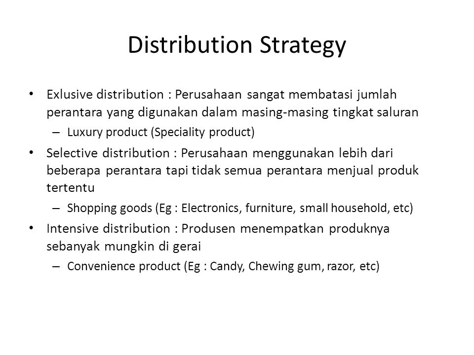 Distribution Strategy