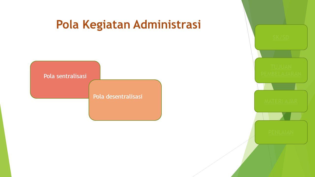 Pola Kegiatan Administrasi