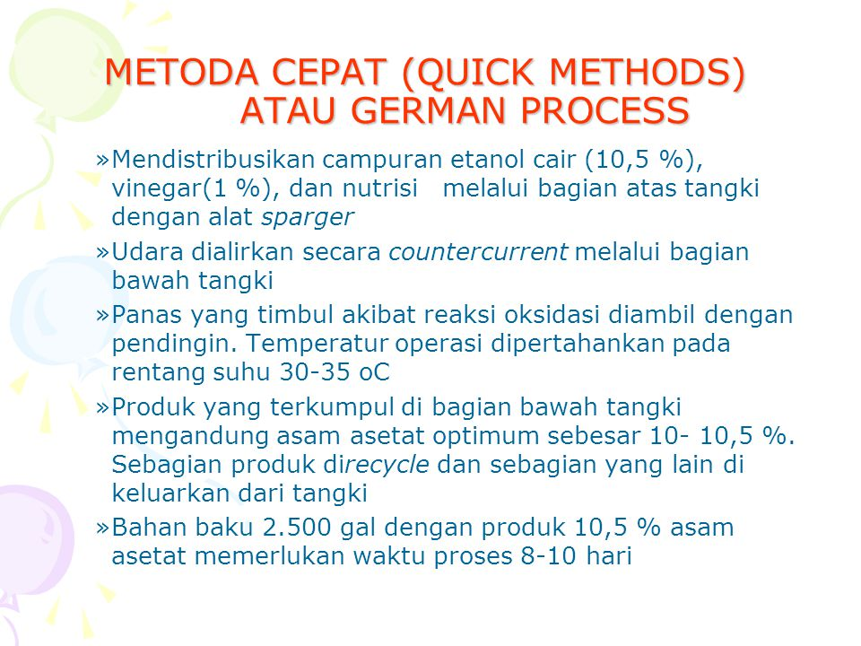 METODA CEPAT (QUICK METHODS) ATAU GERMAN PROCESS