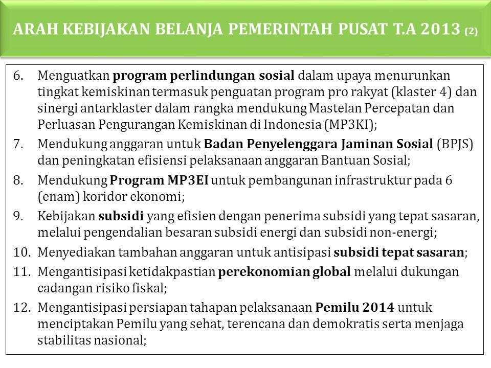 ARAH KEBIJAKAN BELANJA PEMERINTAH PUSAT T.A 2013 (2)