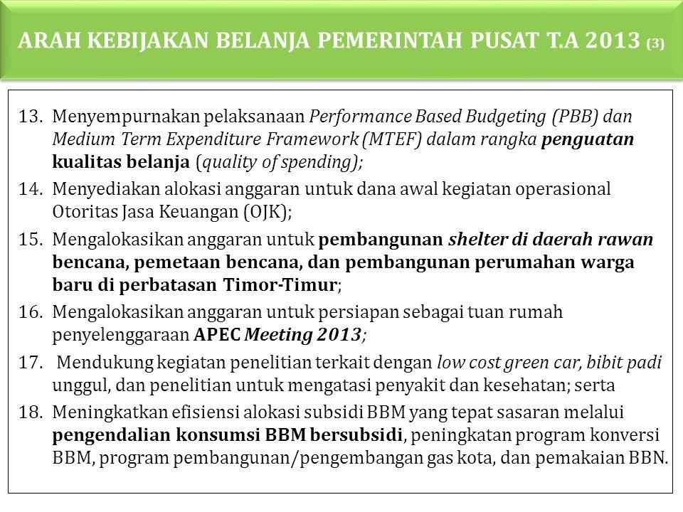 ARAH KEBIJAKAN BELANJA PEMERINTAH PUSAT T.A 2013 (3)