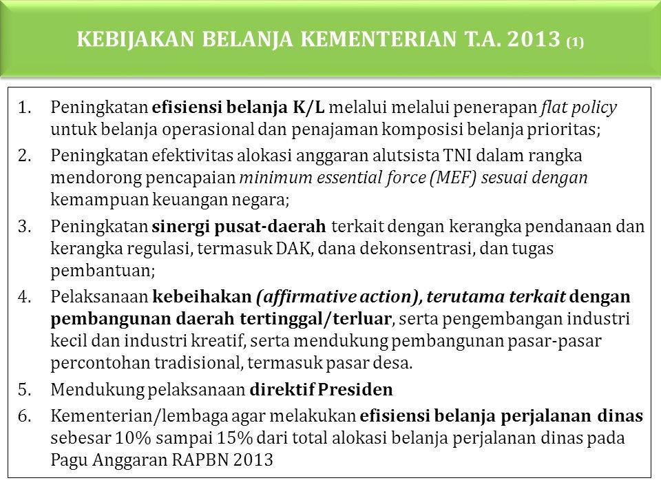 KEBIJAKAN BELANJA KEMENTERIAN T.A. 2013 (1)