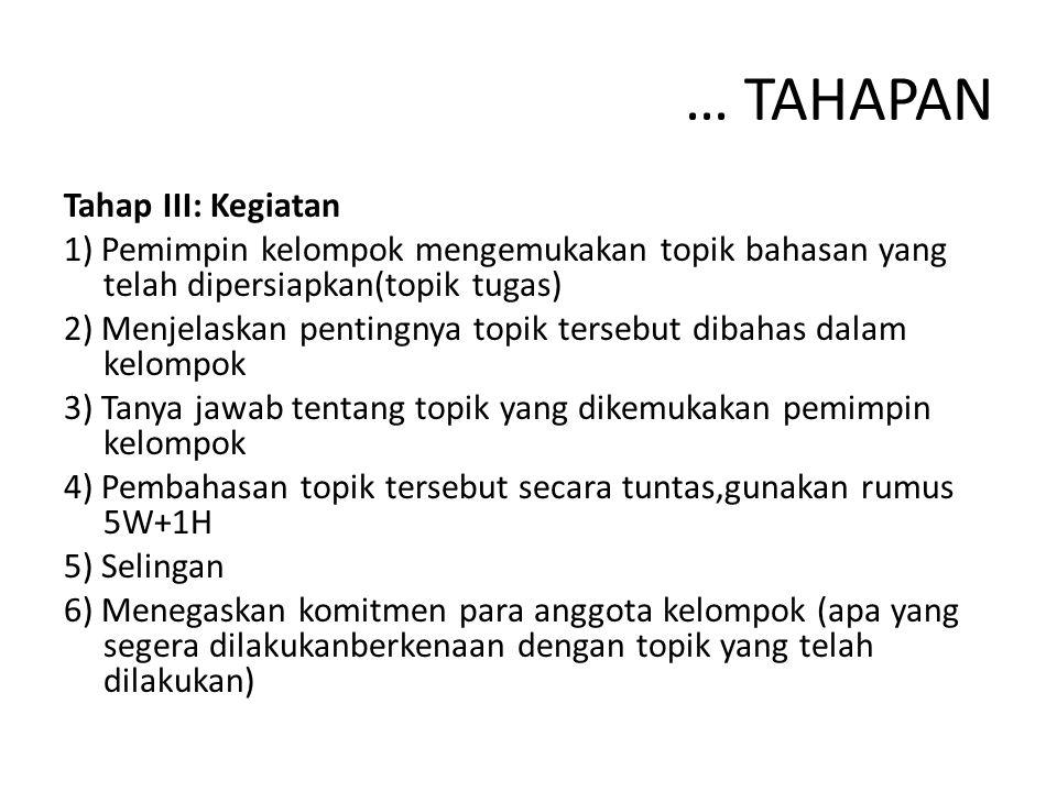 … TAHAPAN