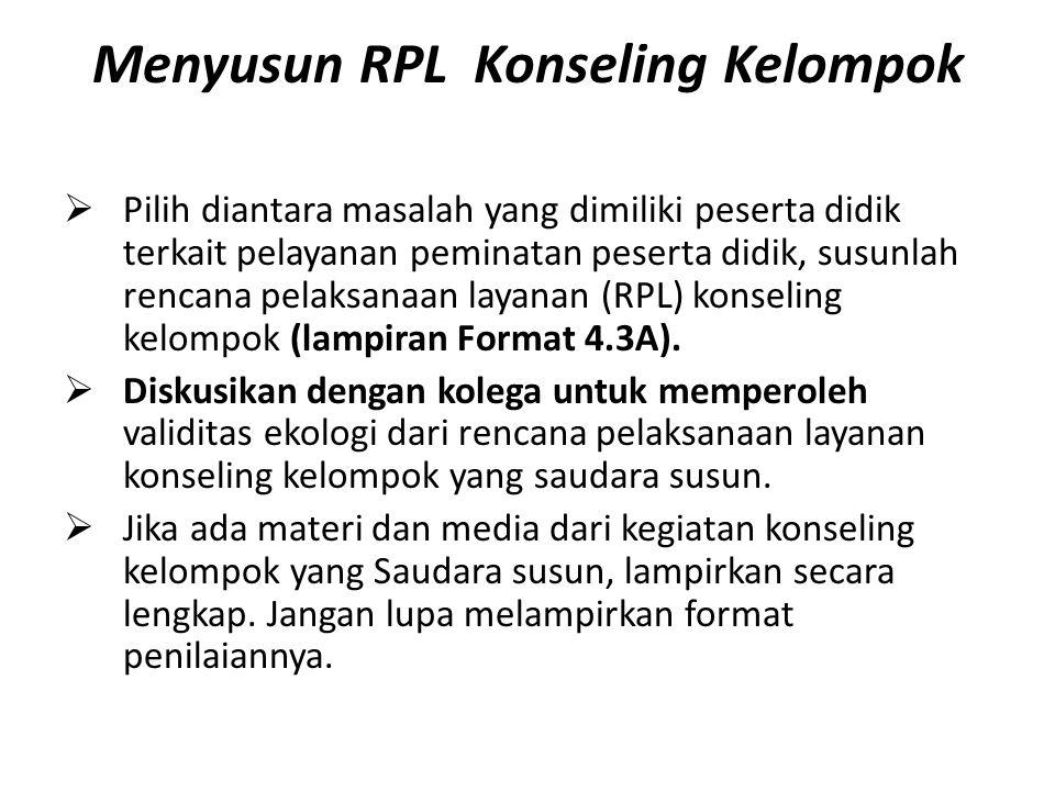 Menyusun RPL Konseling Kelompok