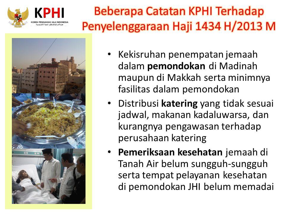Beberapa Catatan KPHI Terhadap Penyelenggaraan Haji 1434 H/2013 M