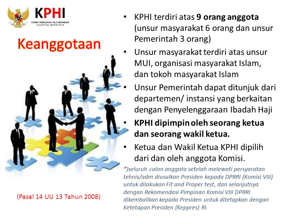 KPHI KPHI terdiri atas 9 orang anggota (unsur masyarakat 6 orang dan unsur Pemerintah 3 orang)