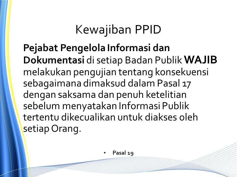 Kewajiban PPID