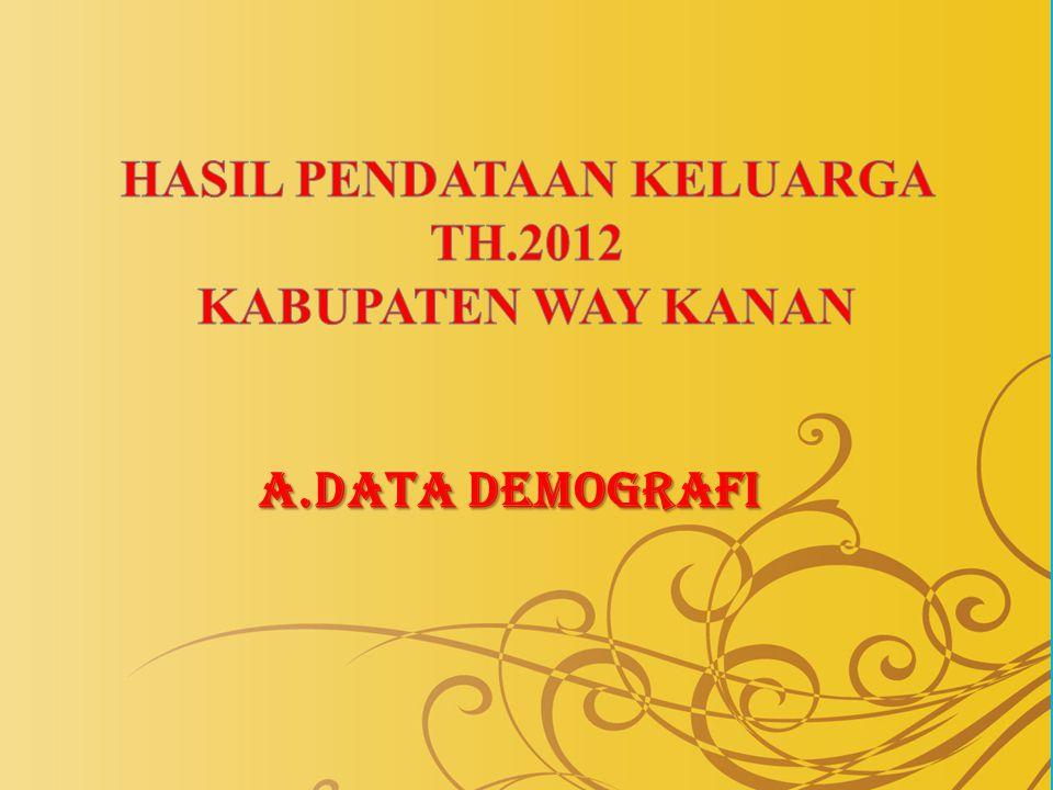 HASIL PENDATAAN KELUARGA TH.2012