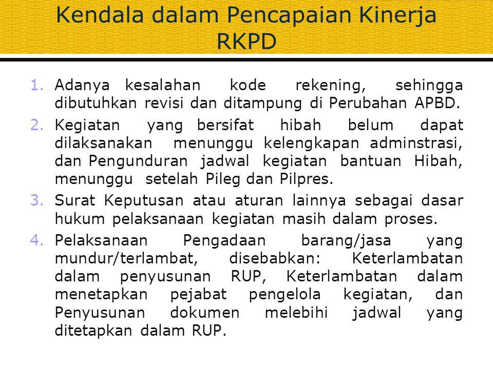 Kendala dalam Pencapaian Kinerja RKPD