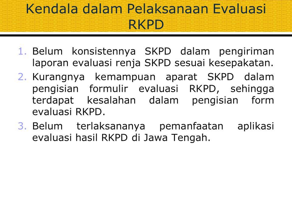 Kendala dalam Pelaksanaan Evaluasi RKPD