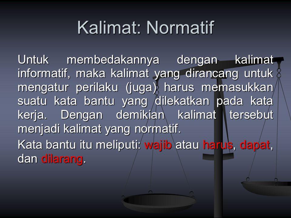 Kalimat: Normatif