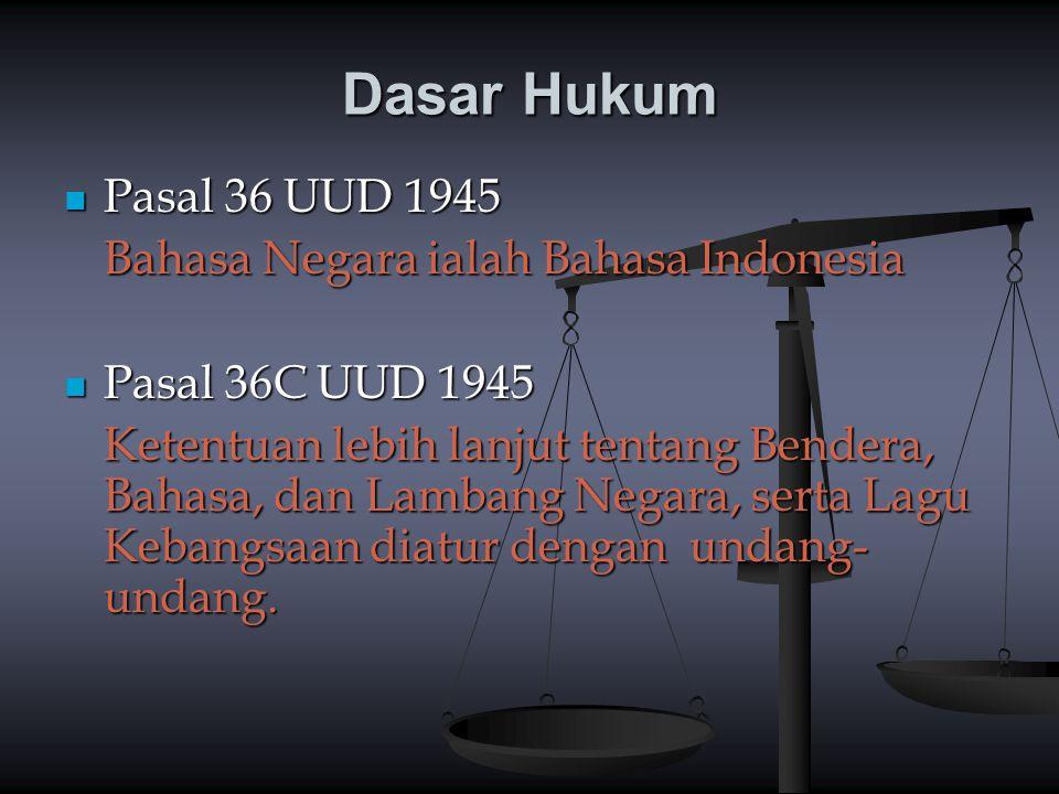 Dasar Hukum Pasal 36 UUD 1945 Bahasa Negara ialah Bahasa Indonesia