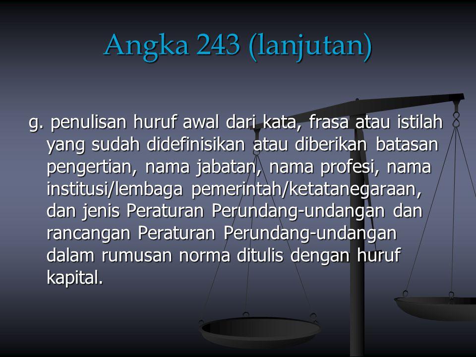 Angka 243 (lanjutan)