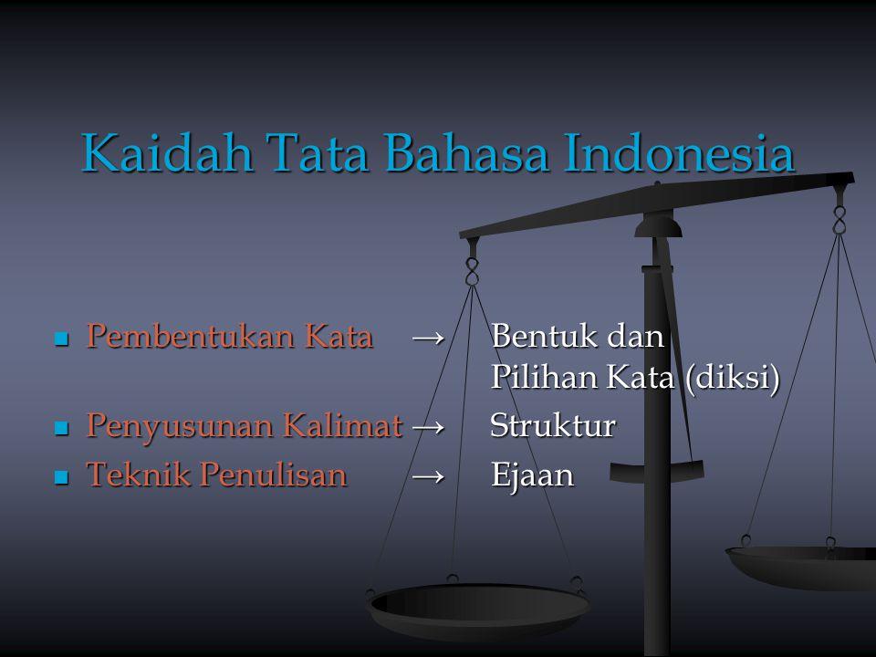 Kaidah Tata Bahasa Indonesia